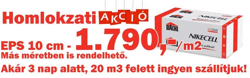 Bachl Nikecell EPS homlokzati polisztirol akció